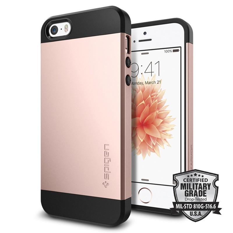 Spigen Slim Armor Case iPhone SE / 5S / 5 Rose Gold - 4