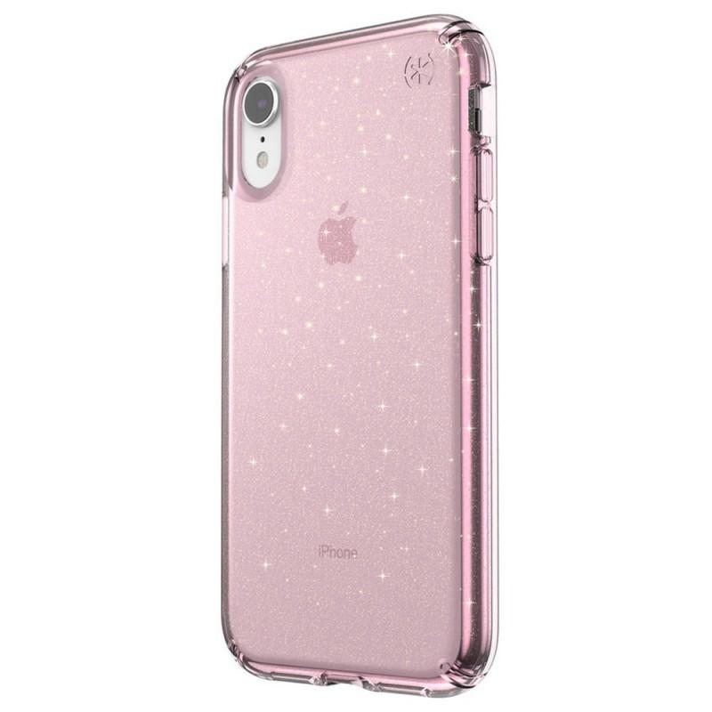 Speck Presidio Clear Glitter iPhone XR Hoesje Roze Goud Glitter 04