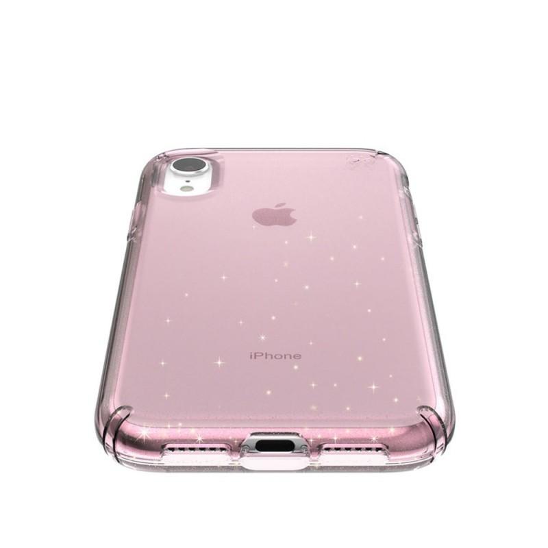 Speck Presidio Clear Glitter iPhone XR Hoesje Roze Goud Glitter 03