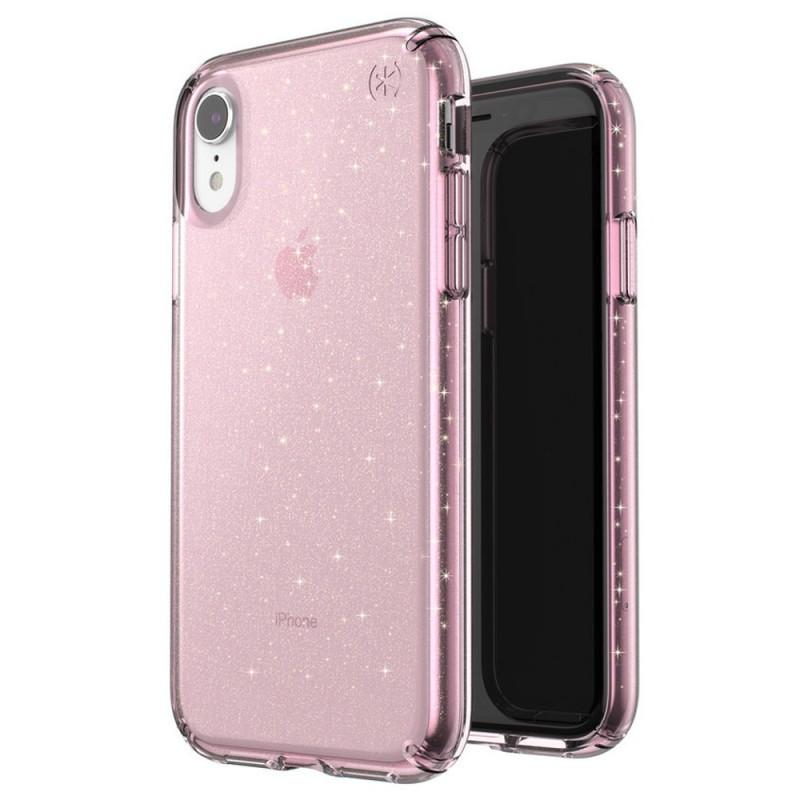 Speck Presidio Clear Glitter iPhone XR Hoesje Roze Goud Glitter 05