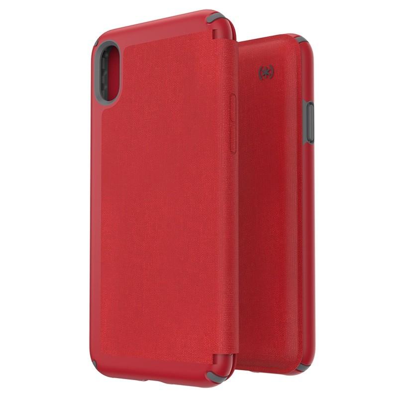 Speck Presidio Folio iPhone XS Max Case Rood 05