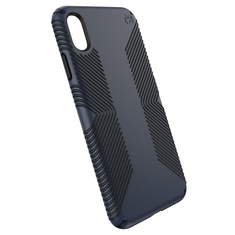 Speck Presidio Grip iPhone XS Max Hoesje Blauw/Zwart 03