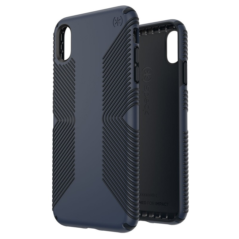 Speck Presidio Grip iPhone XS Max Hoesje Blauw/Zwart 05