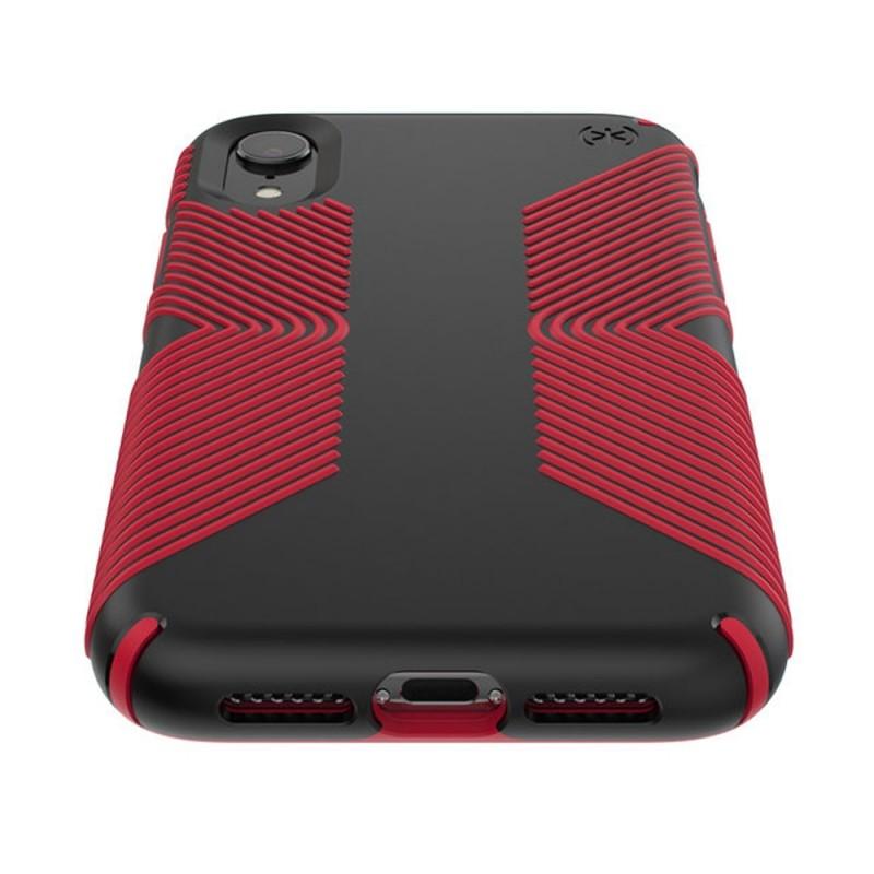 Speck Presidio Grip Case iPhone XR Rood Zwart 03