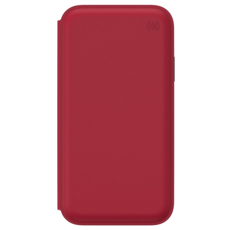 Speck Presidio Leather Folio iPhone XR Hoesje Rood 04
