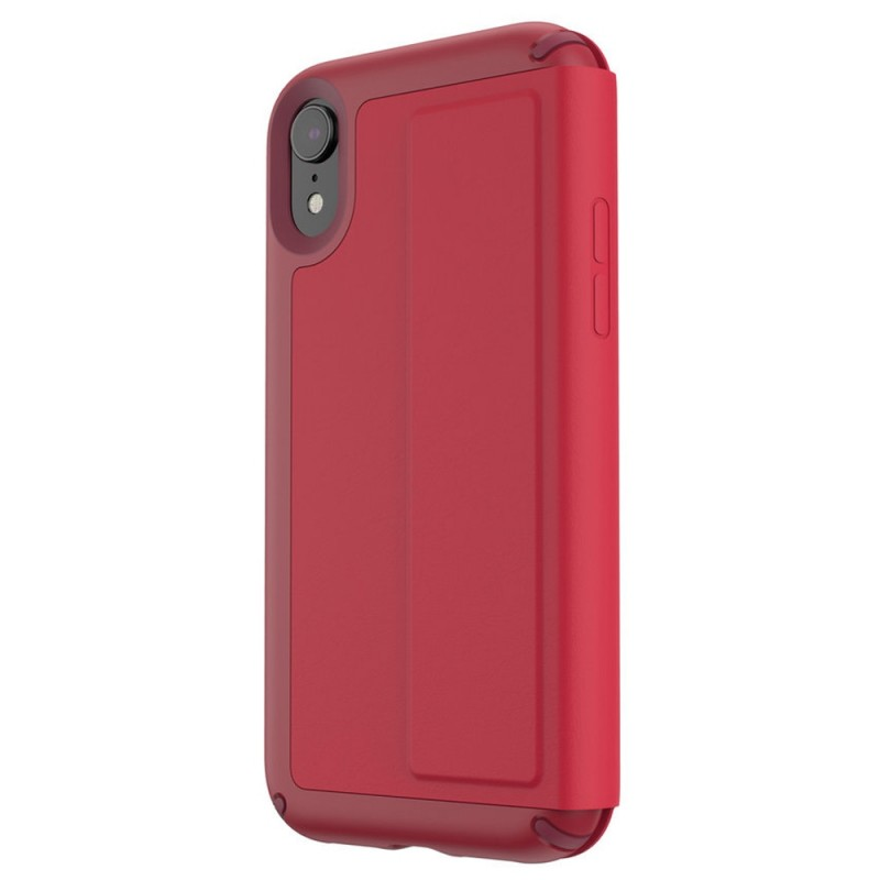 Speck Presidio Leather Folio iPhone XR Hoesje Rood 05