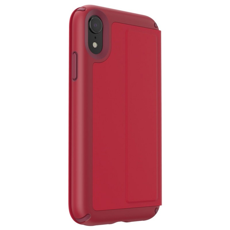 Speck Presidio Leather Folio iPhone XR Hoesje Rood 02