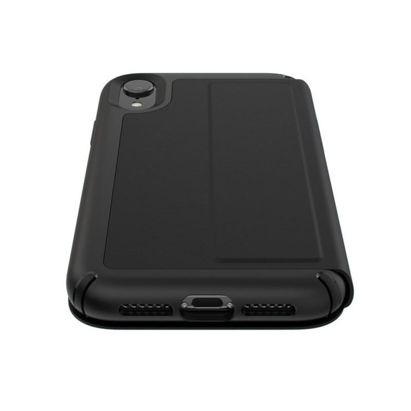 Speck Presidio Leather Folio iPhone XR Hoesje Zwart 06