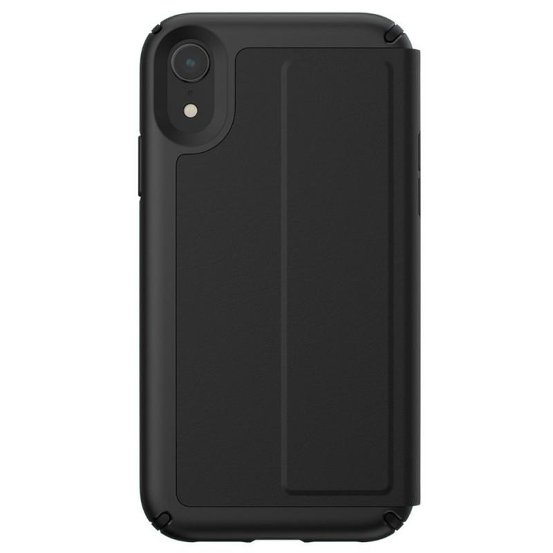 Speck Presidio Leather Folio iPhone XR Hoesje Zwart 11