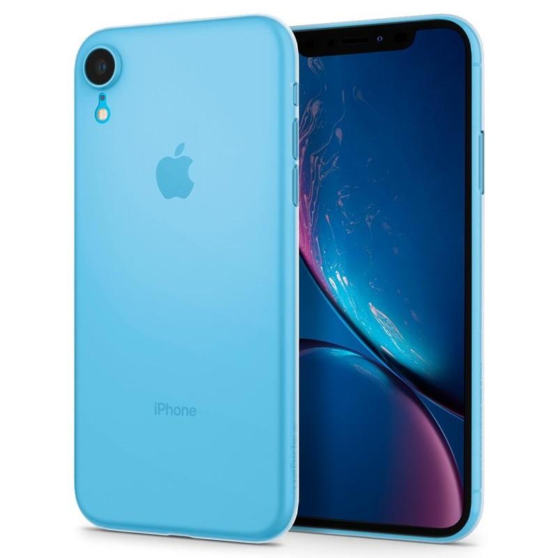 Spigen Air Skin iPhone XR Hoesje Matte wit transparant 04