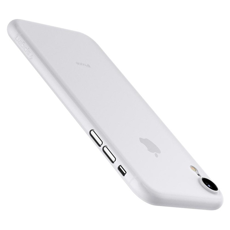 Spigen Air Skin iPhone XR Hoesje Matte wit transparant 02