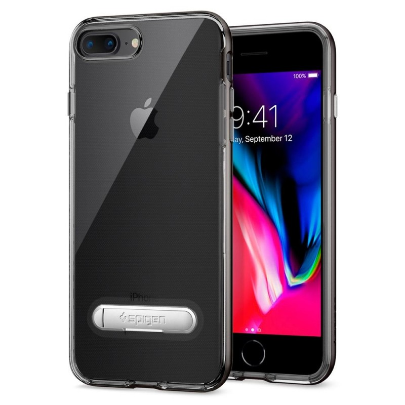 Spigen Crystal Hybrid iPhone 8 Plus/7 Plus Gunmetal - 1