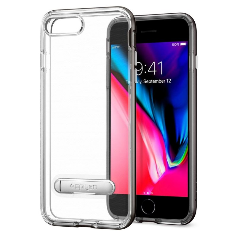 Spigen Crystal Hybrid iPhone 8 Plus/7 Plus Gunmetal - 2