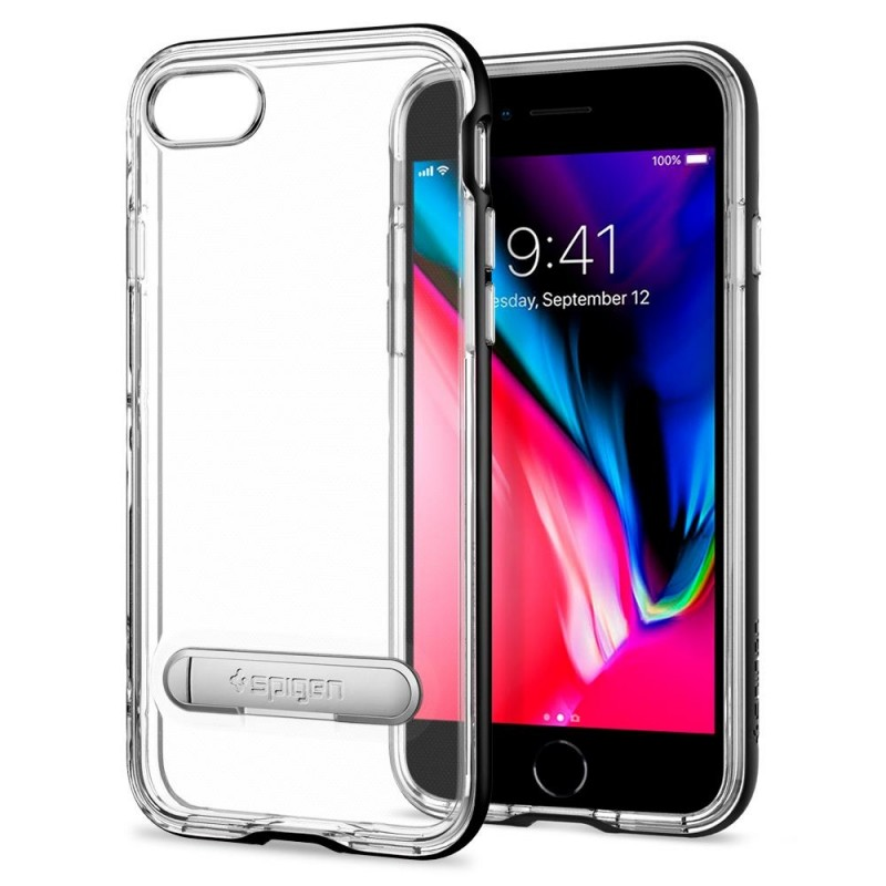 Spigen Crystal Hybrid Case iPhone 8/7 Zwart - 1