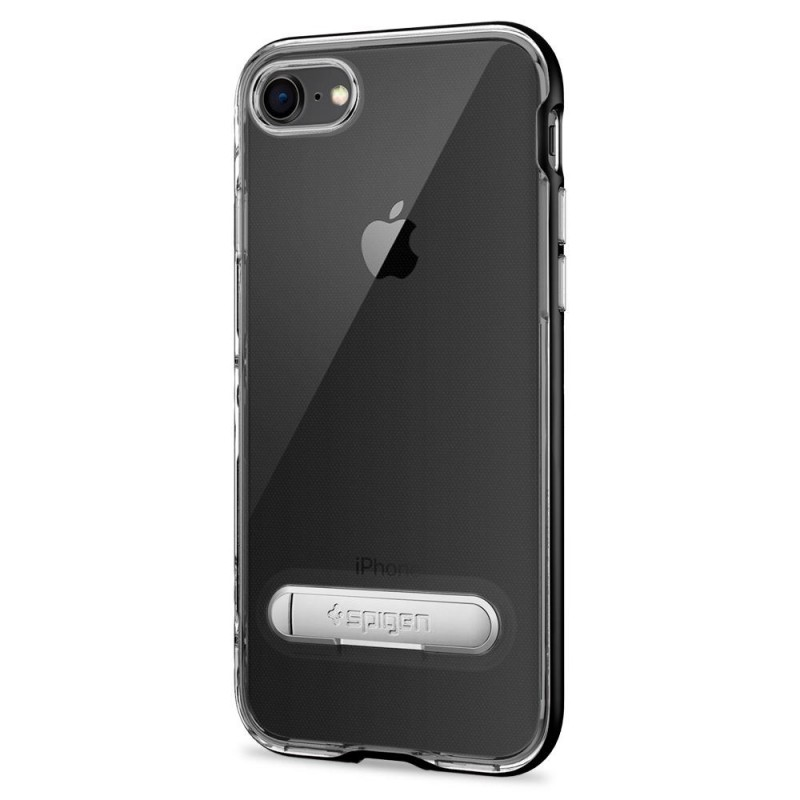Spigen Crystal Hybrid Case iPhone 8/7 Zwart - 4