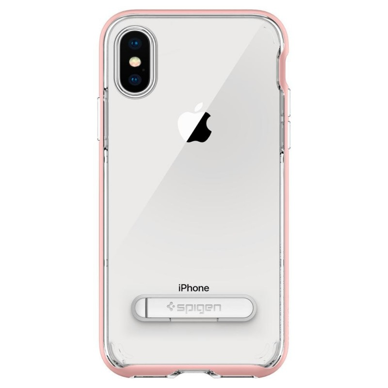 Spigen Crystal Hybrid iPhone X/Xs Hoesje Roze/Transparant - 7