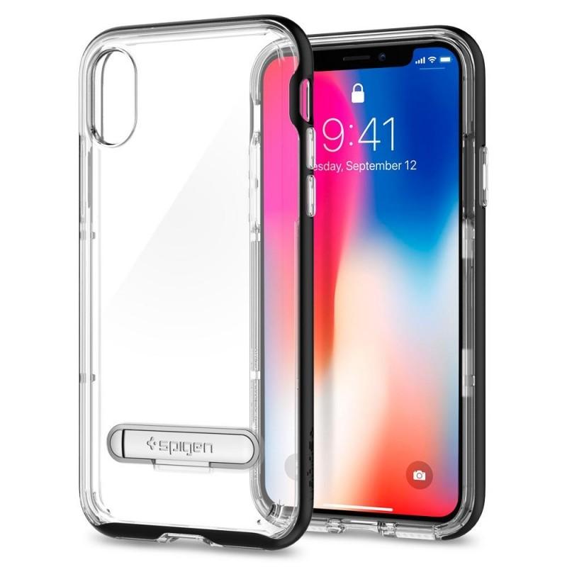 Spigen Crystal Hybrid iPhone X/Xs Hoesje Zwart/Transparant - 2