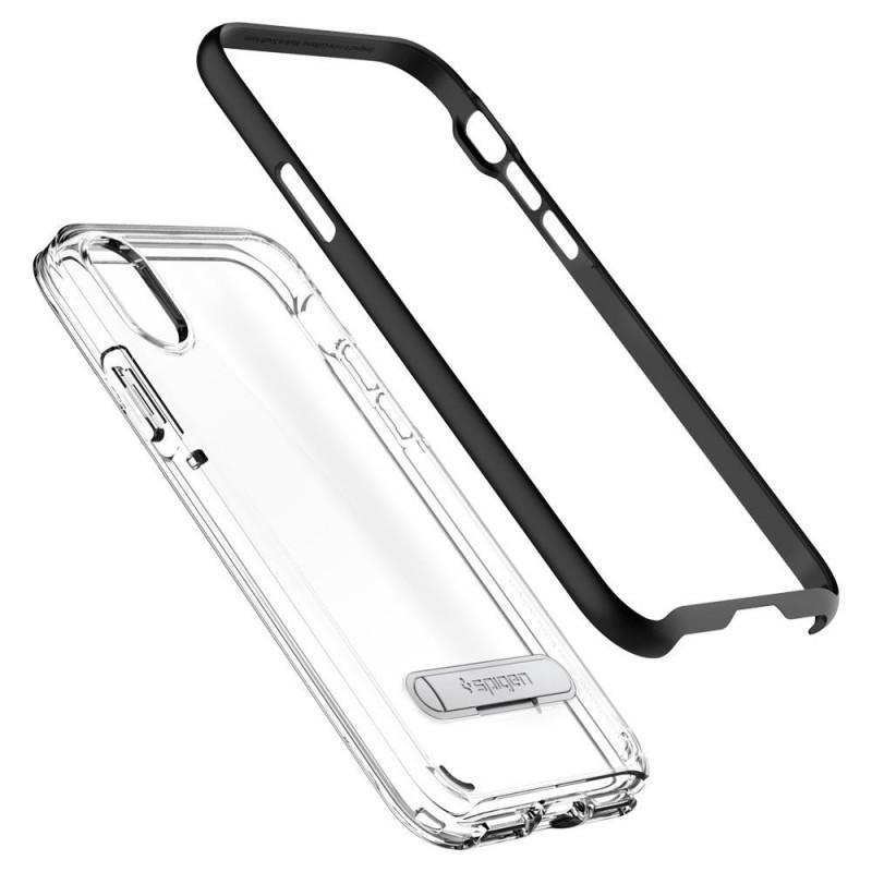 Spigen Crystal Hybrid iPhone X/Xs Hoesje Zwart/Transparant - 4