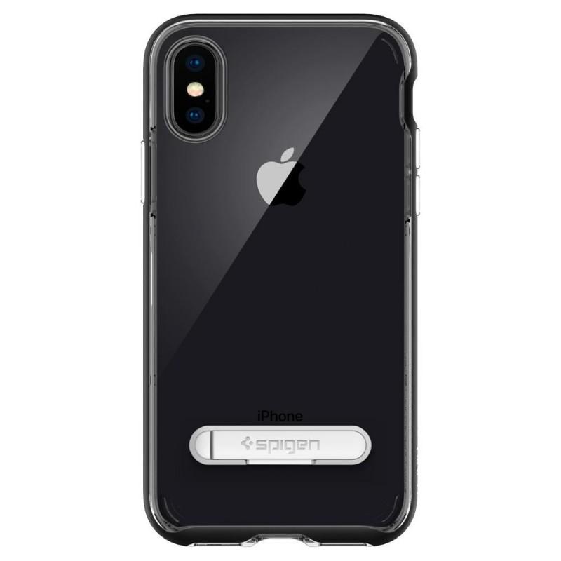 Spigen Crystal Hybrid iPhone X/Xs Hoesje Zwart/Transparant - 7