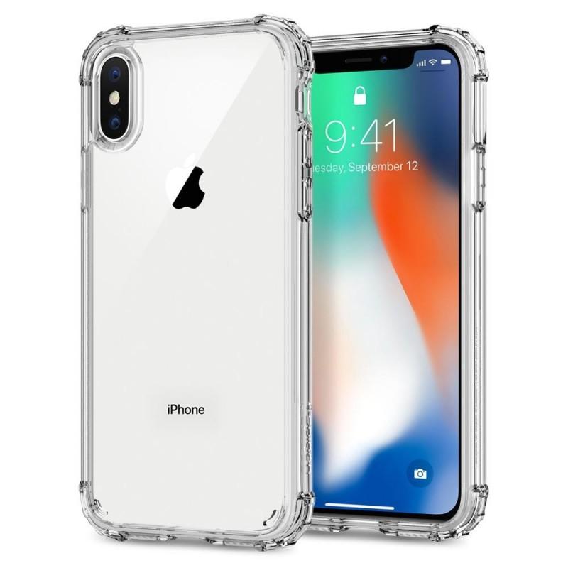 Spigen Crystal Shell iPhone X/Xs Hoesje Transparant - 1