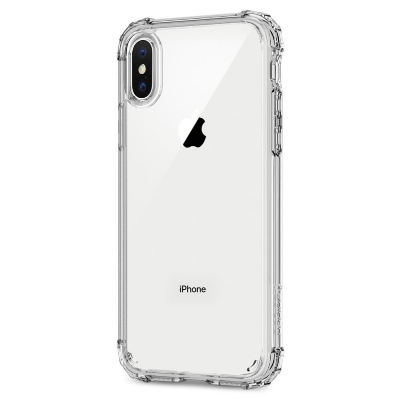 Spigen Crystal Shell iPhone X/Xs Hoesje Transparant - 4