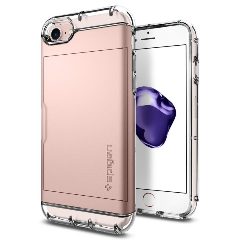 Spigen Crystal Wallet iPhone 8/7 Hoesje Rose Goud - 2