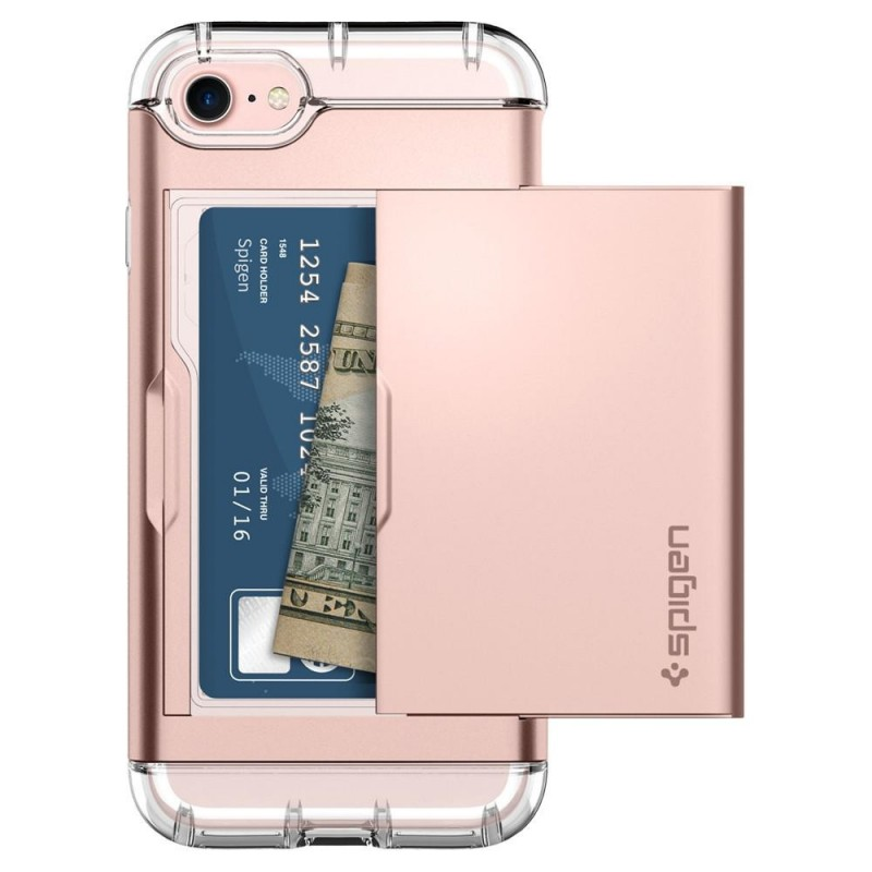 Spigen Crystal Wallet iPhone 8/7 Hoesje Rose Goud - 4