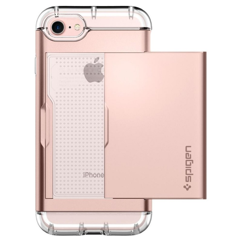 Spigen Crystal Wallet iPhone 8/7 Hoesje Rose Goud - 5