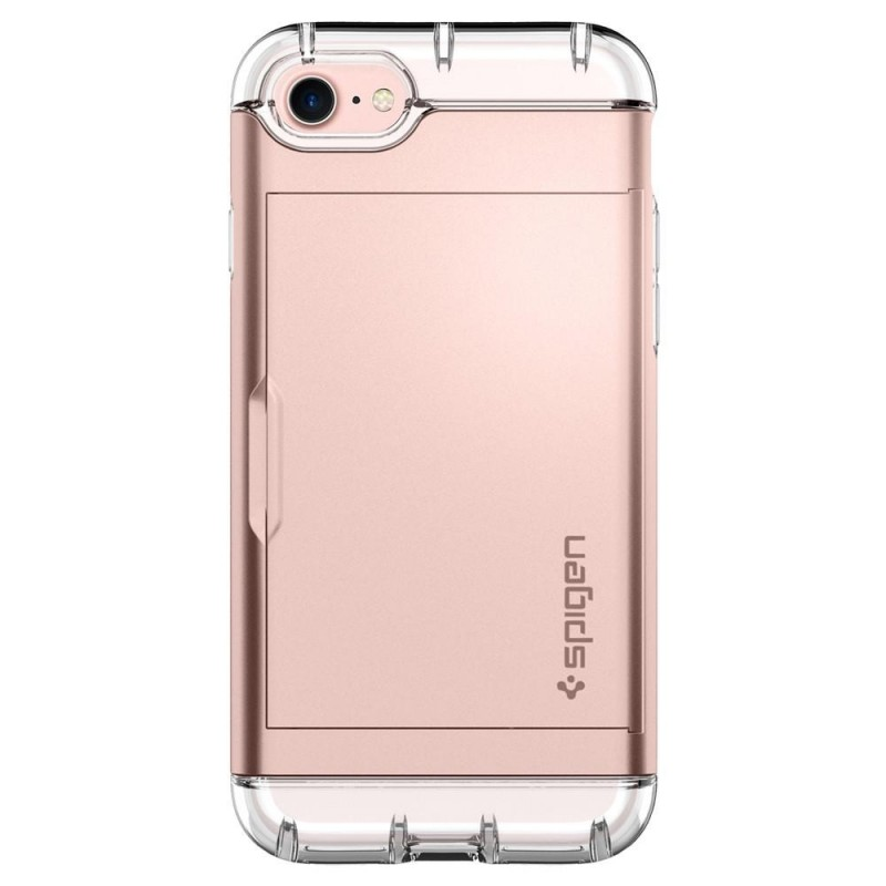 Spigen Crystal Wallet iPhone 8/7 Hoesje Rose Goud - 7