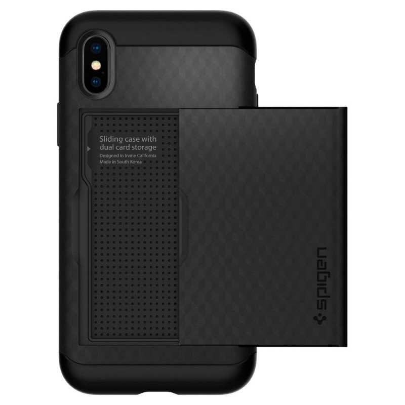 Spigen Crystal Wallet Case iPhone X/Xs Zwart - 5