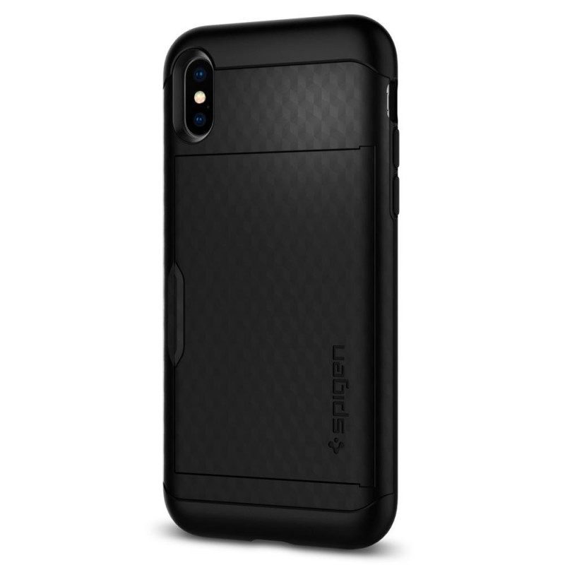 Spigen Crystal Wallet Case iPhone X/Xs Zwart - 7