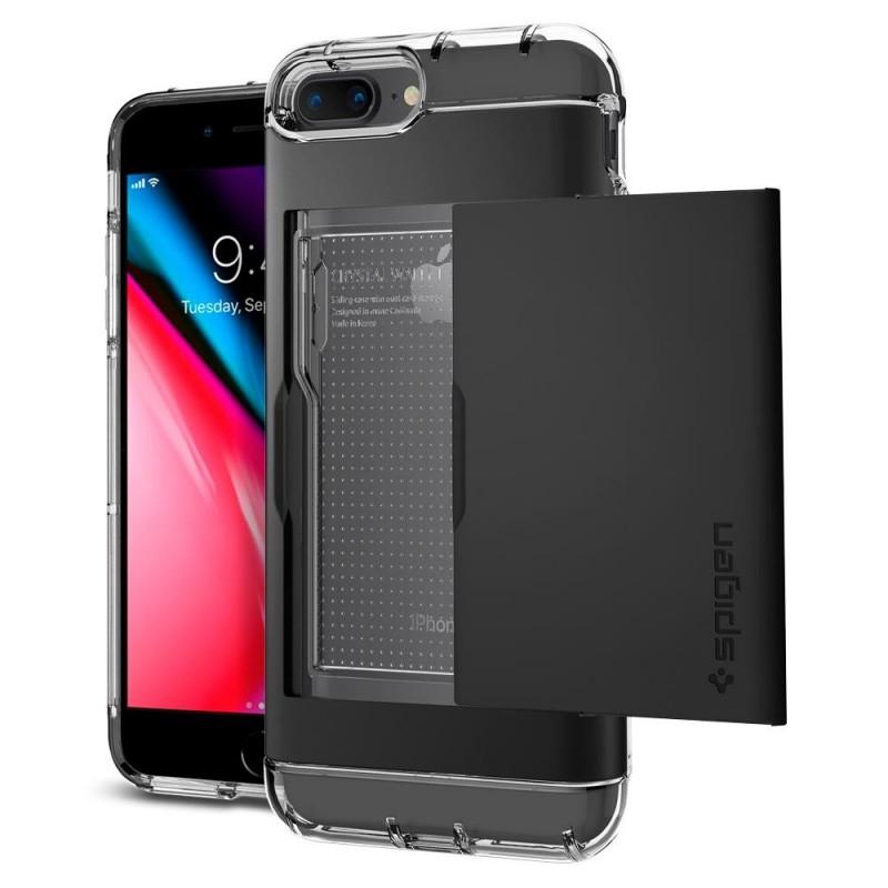 Spigen Crystal Wallet iPhone 8 Plus/7 Plus Zwart - 1