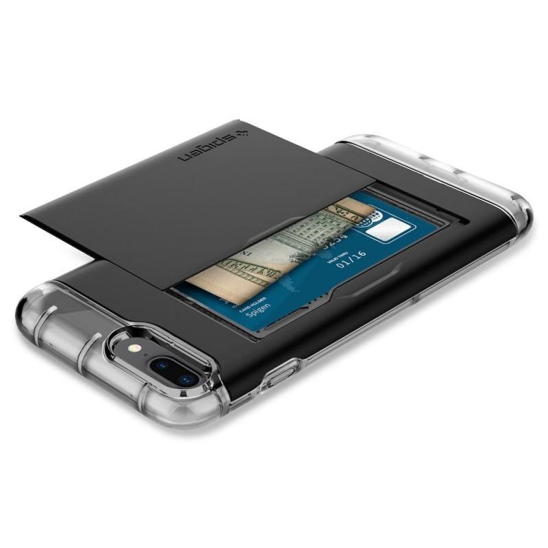 Spigen Crystal Wallet iPhone 8 Plus/7 Plus Zwart - 4