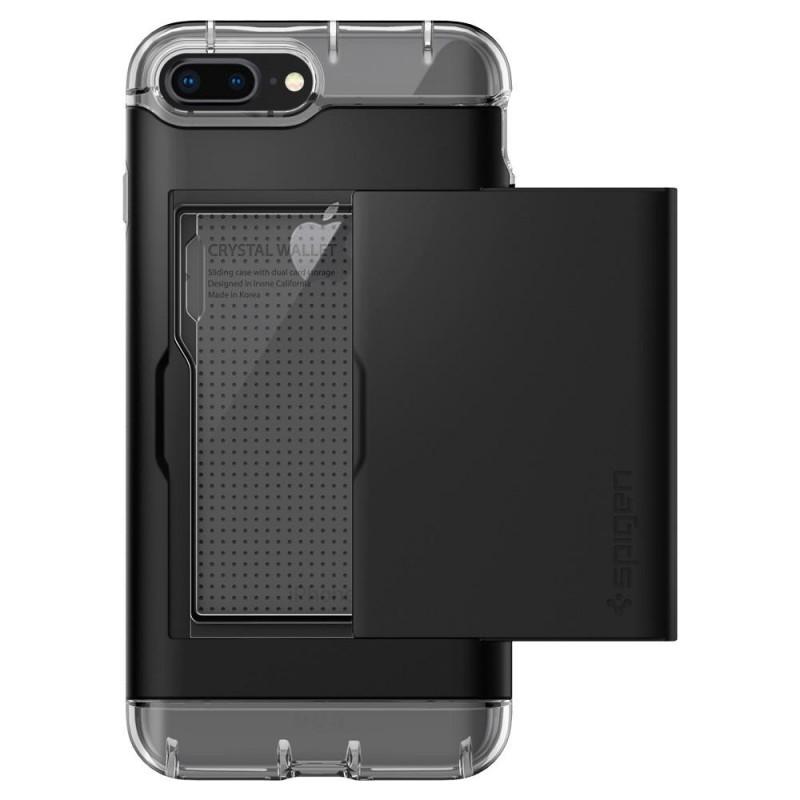 Spigen Crystal Wallet iPhone 8 Plus/7 Plus Zwart - 5