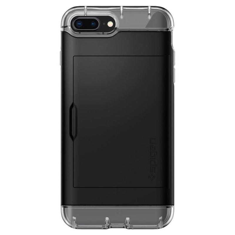 Spigen Crystal Wallet iPhone 8 Plus/7 Plus Zwart - 7