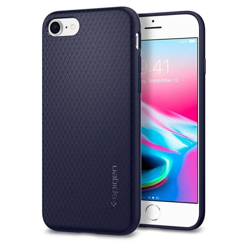 Spigen Liquid Air Armor Case iPhone 8/7 Blauw - 1
