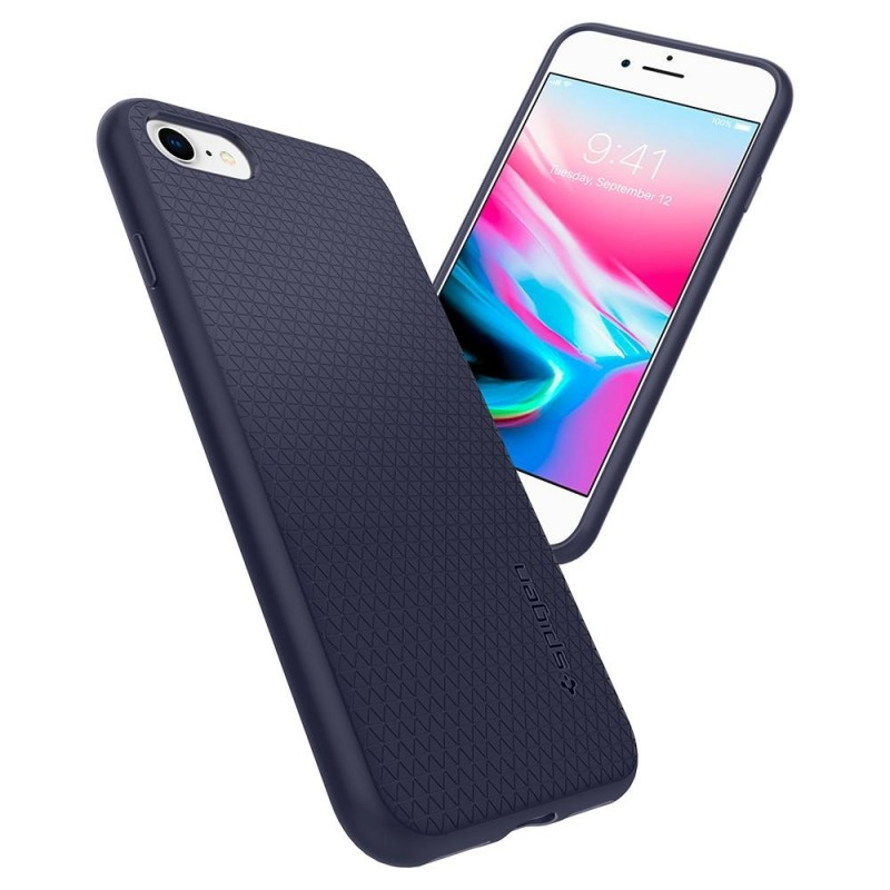Spigen Liquid Air Armor Case iPhone 8/7 Blauw - 3
