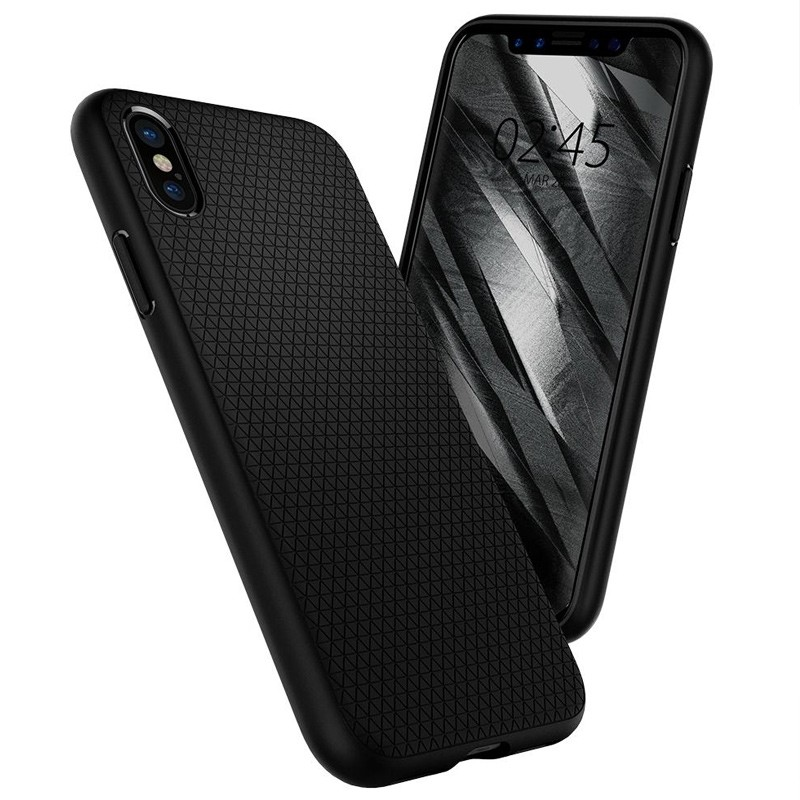 Spigen - Liquid Air Apple iPhone X/Xs hoes Black 01