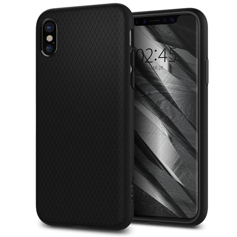 Spigen - Liquid Air Apple iPhone X/Xs hoes Black 02