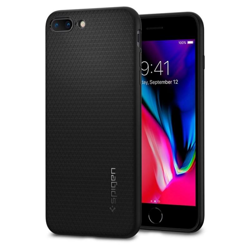 Spigen Liquid Air Armor Case iPhone 8 Plus/7 Plus Zwart - 1