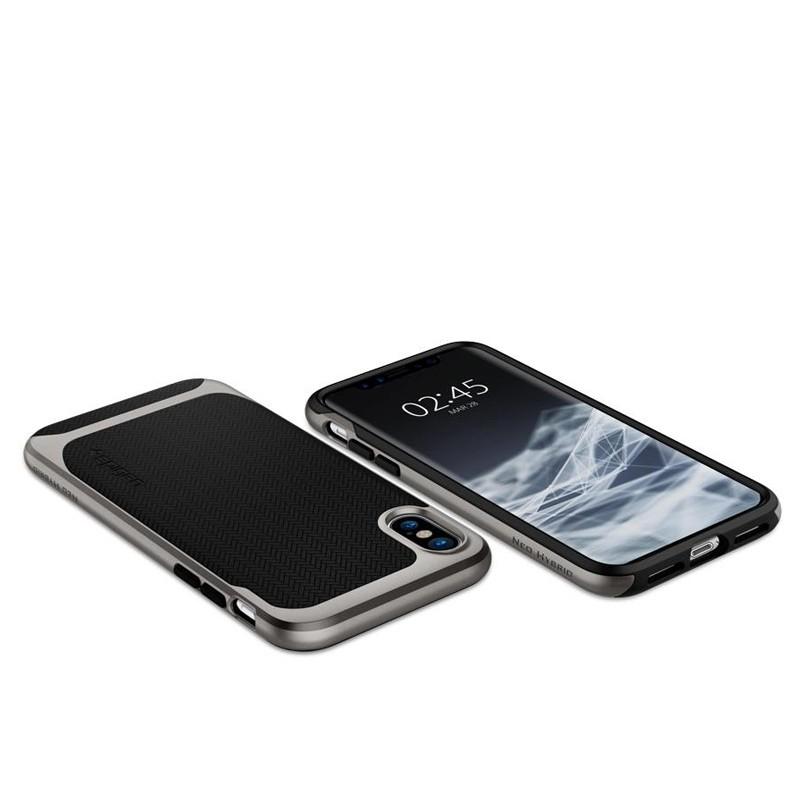 Spigen - Neo Hybrid iPhone 8 Hoesje gunmetal 04