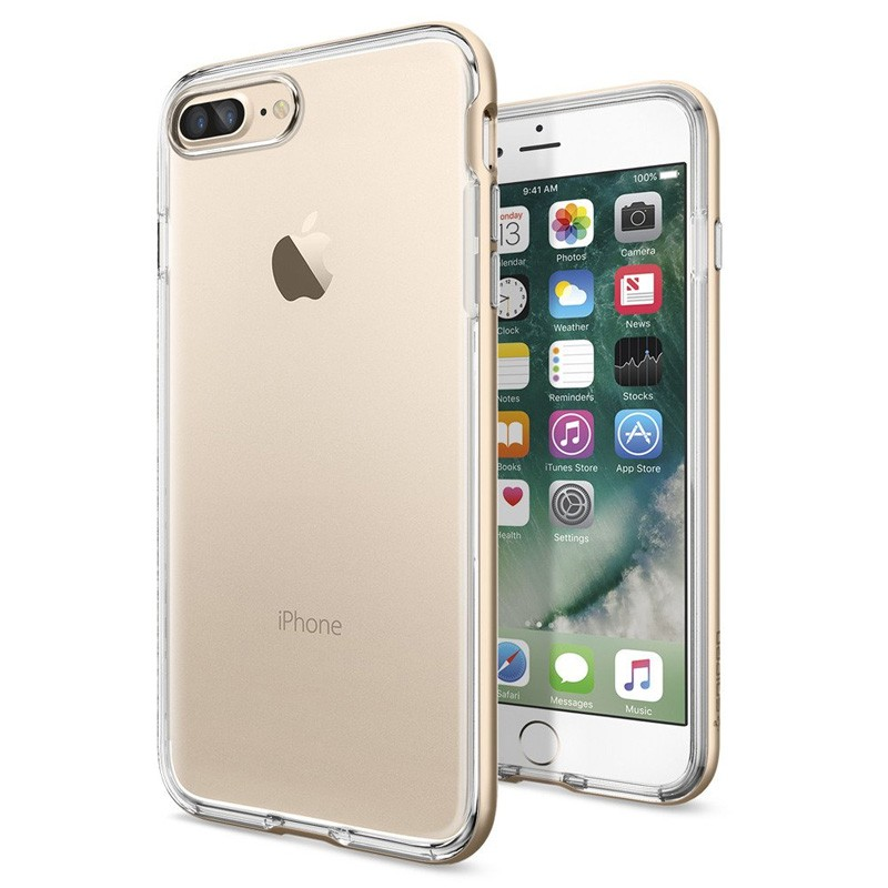 Spigen Neo Hybrid Crystal iPhone 7 Plus Champagne/Clear - 1