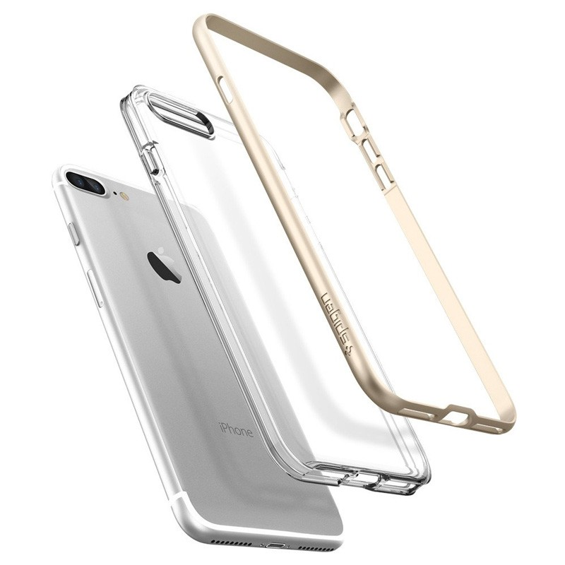 Spigen Neo Hybrid Crystal iPhone 7 Plus Champagne/Clear - 3