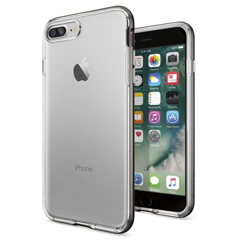 Spigen Neo Hybrid Crystal iPhone 7 Plus Gunmetal/Clear - 1