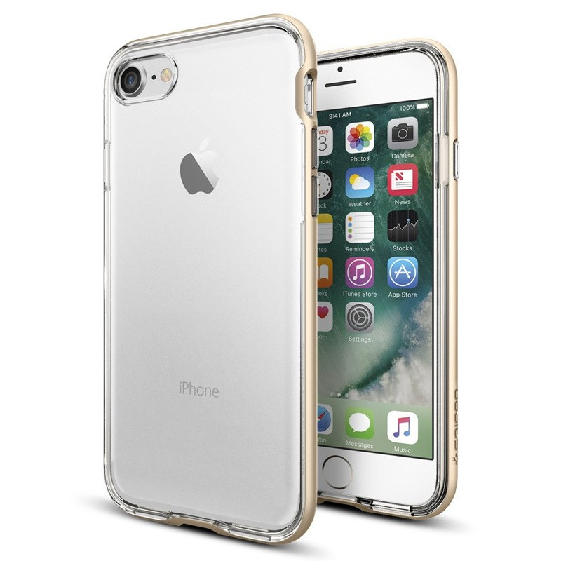 Spigen Neo Hybrid Crystal iPhone 7 Champagne/Clear - 1