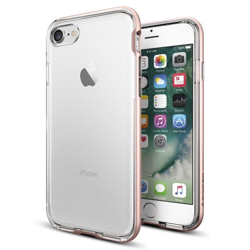 Spigen Neo Hybrid Crystal iPhone 7 Rose Gold/Clear - 1