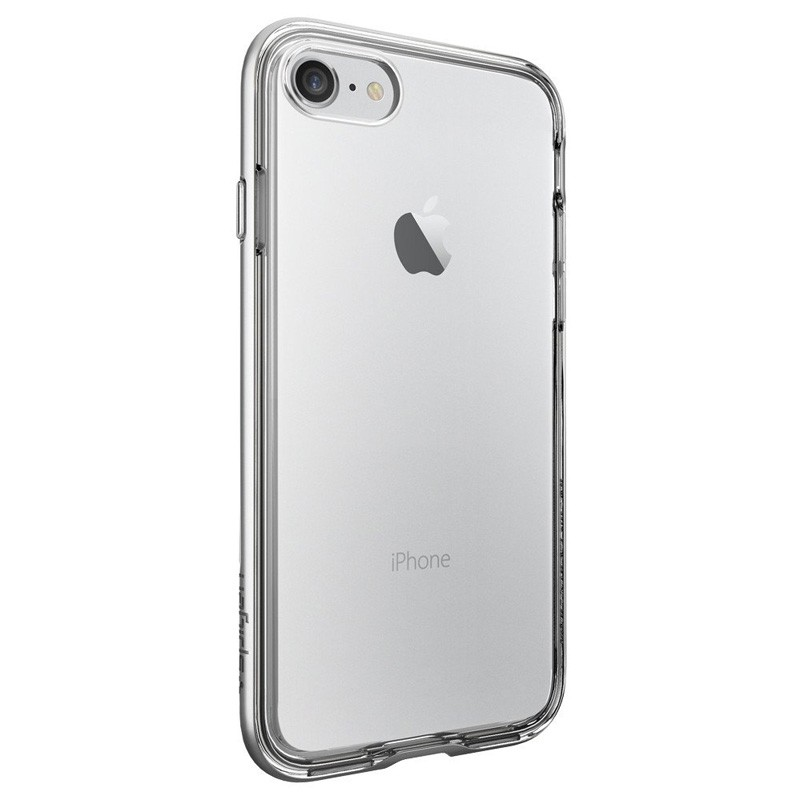 Spigen Neo Hybrid Crystal iPhone 7 Silver/Clear - 4