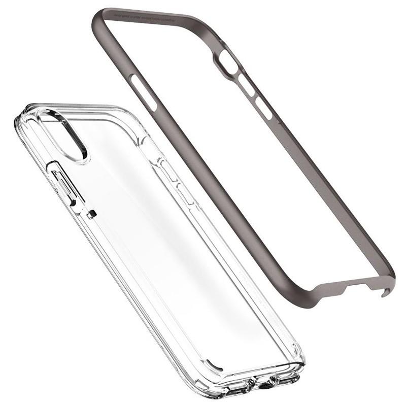Spigen - Neo Hybrid Crystal iPhone 8 Hoesje gunmetal - clear 03