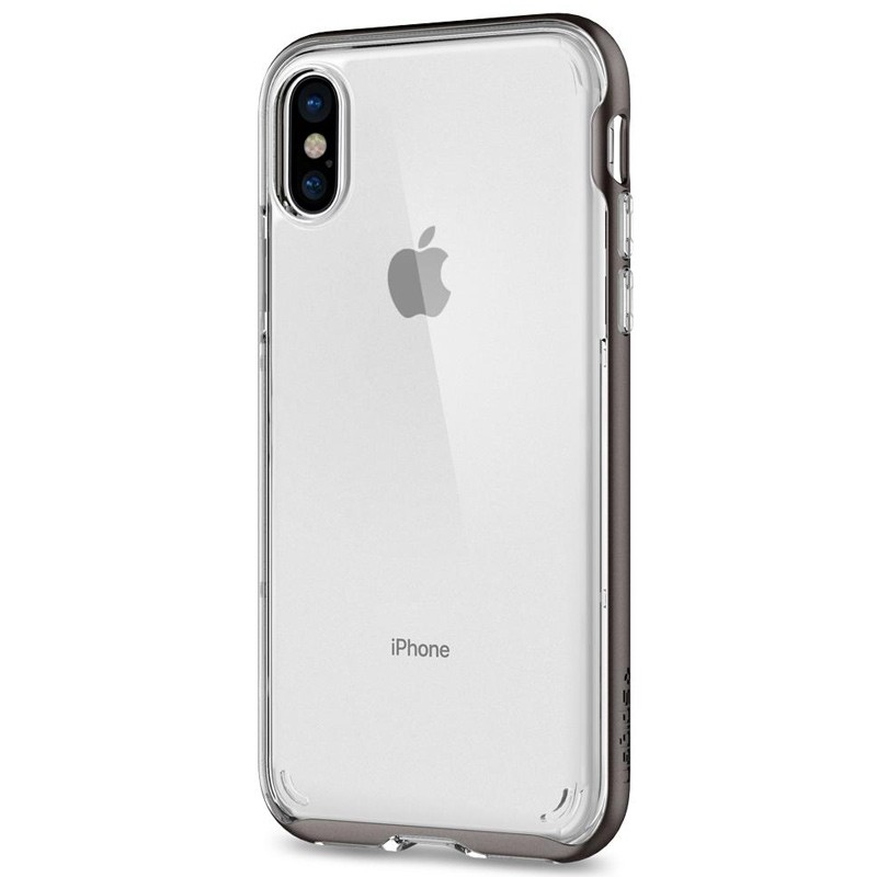 Spigen - Neo Hybrid Crystal iPhone 8 Hoesje gunmetal - clear 05
