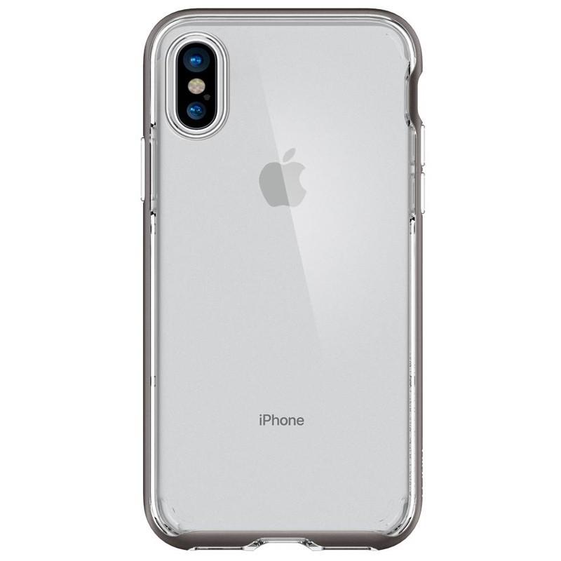Spigen - Neo Hybrid Crystal iPhone 8 Hoesje gunmetal - clear 06